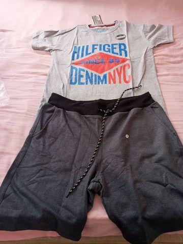 Camisas + bermuda moleton preço baixo  - Foto 5
