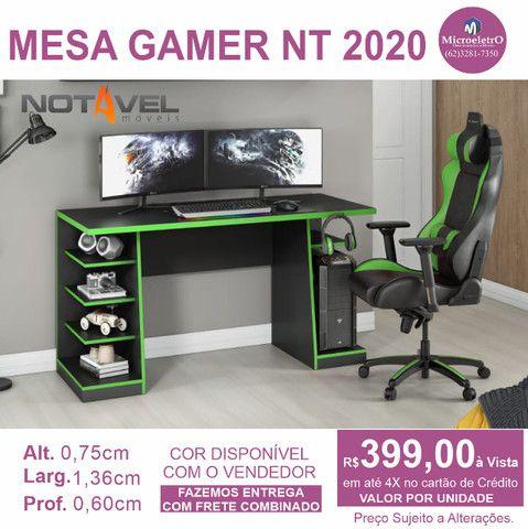 Mesa Gamer Nt 2020 cor preta e verde