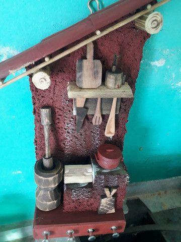 Porta chave em madeira. - Foto 4