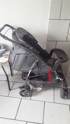 Carrinho e Bebê conforto. - Foto 3