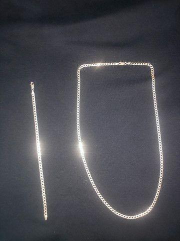 Conjunto de prata 925 com garantia