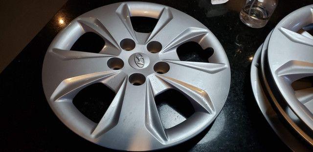 Roda original Hyundai Creta S16 com calota, na caixa nunca usada - Foto 2