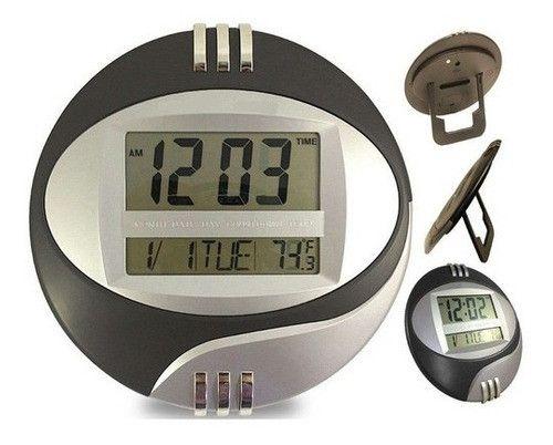 Relógio Digital Mesa E Parede Data Hora Temperatura Le-8108 - Foto 2