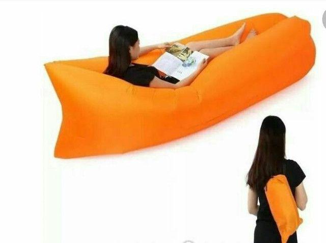 Sofa inflável camping/piscina/lazer - Foto 4