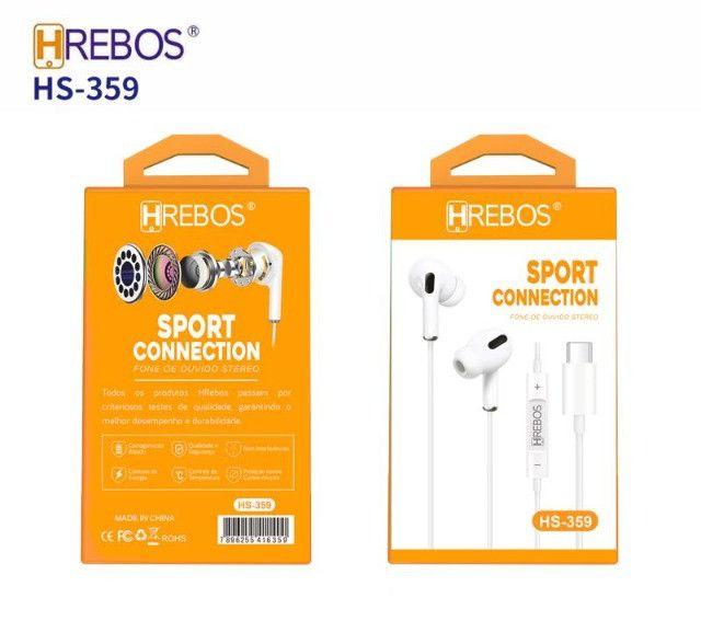 Fone De Ouvido Type-c Intra Auricular Hs-359 Hrebos