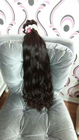 Cabelo humano natural, mega hair - aplique - alongamento