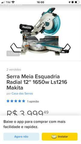 "Serra meia esquadria radial 12"" maquita - Foto 5"