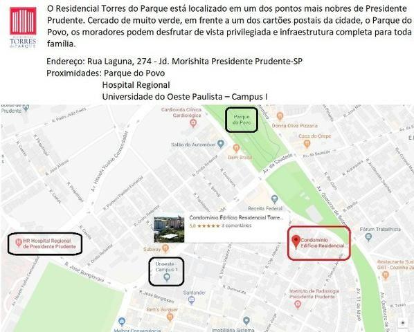 Apartamento no Torres do Parque em Presidente Prudente Próximo a Unoeste Campus 1 - Foto 2