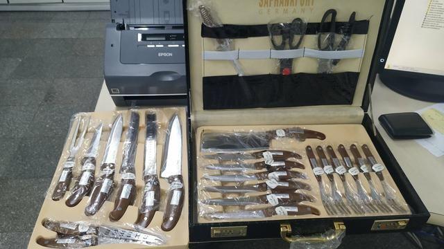 Kit Churrasco ou Cozinha Com maleta 24 peças em aço inox