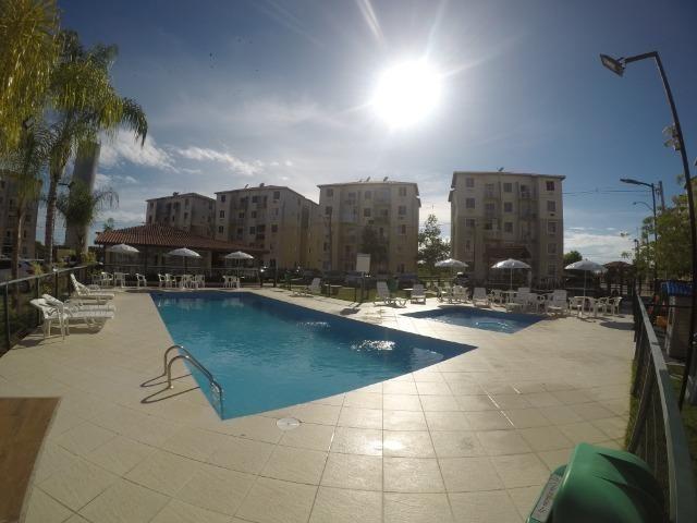 FM - Excelente apartamento 2 quartos térreo com fechamento de varanda - Praia da Baleia - Foto 12