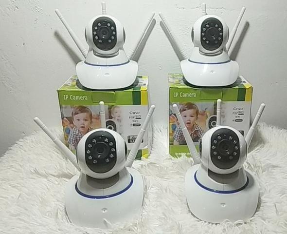 Câmera IP 3 Antenas Robozinho WIFI - Foto 4