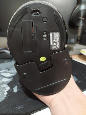 Mouse Sem Fio Vertical Ergonômico Delux M618+ - Foto 2