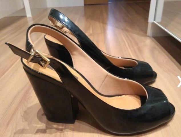907b6328d Peep Toe preto lia LINE - Roupas e calçados - Alto da Colina ...