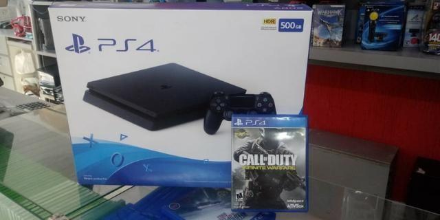 Playstation 4 HD de 500gb com 01 jogos em midia Fisica - Foto 3