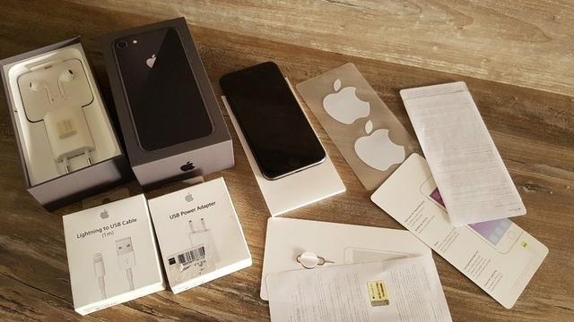 cb5b9b85d30 IPhone 8 64GB Cinza Espacial Anatel Nota Fiscal Danfe/NF-e Com Acessórios  Apple