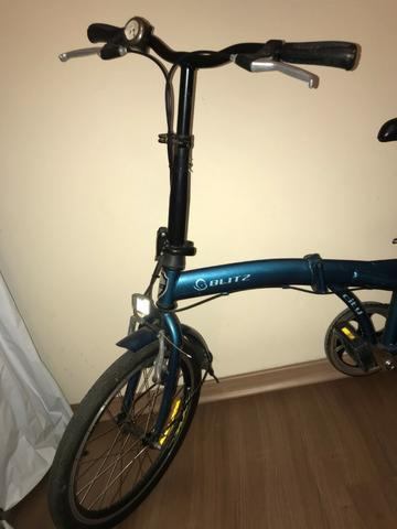 Bicicleta Dobrável Blitz City azul Aro 20, - Foto 2