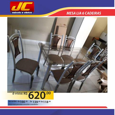 Mesas de 6 cadeiras na promoção a partir de r$499,00 reais - Foto 4
