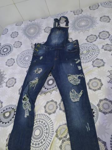 Macacão jeans semi novo