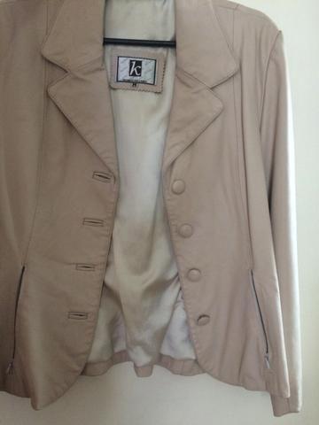 Blazer/jaqueta de couro legítimo