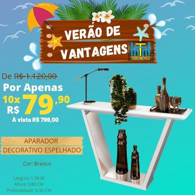 VERÃO DE VANTAGENS / APARADOR DECORATIVO ESPELHADO  - Foto 3