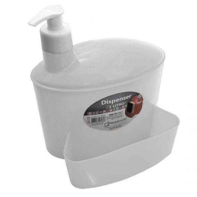 Dispenser Porta Detergente Esponja De Plastico 1 Litro novo lacrado
