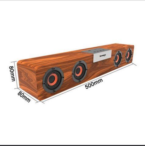 Caixa de som Bluetooth 5.0 modelo vintage MP3 player 50cmx8cm - Foto 5