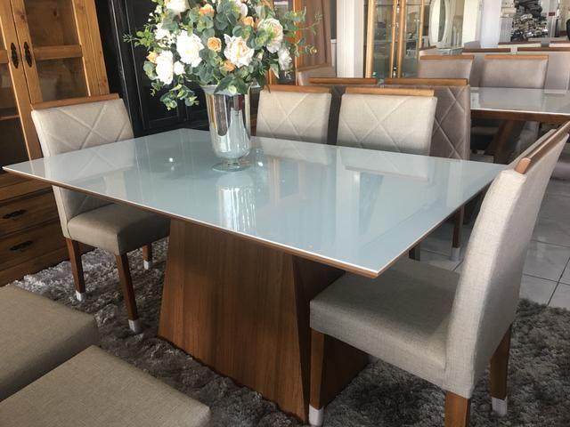 Mesa casual sala de jantar clim e moderna