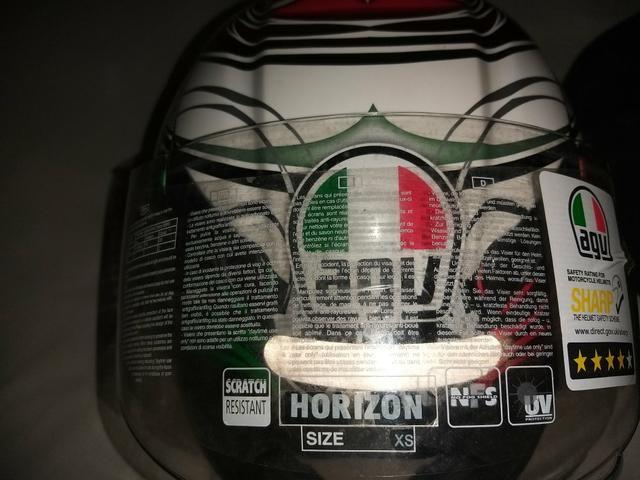 Dois Capacetes Horizon Absolute Italy Fibra de Carbono - Foto 2