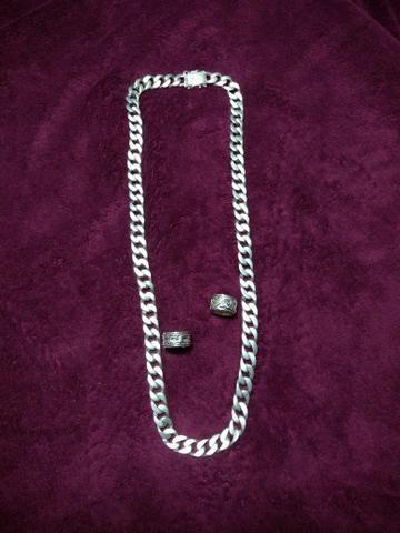 Corrente de prata 925 é 2 anéis