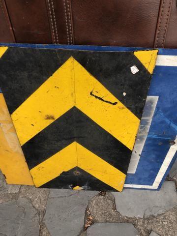 Placa Antiga de Trânsito de Mineradora - Foto 6