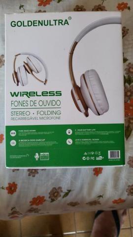 Fone de ouvidos sem fio com entrada para cartão SD - Foto 3