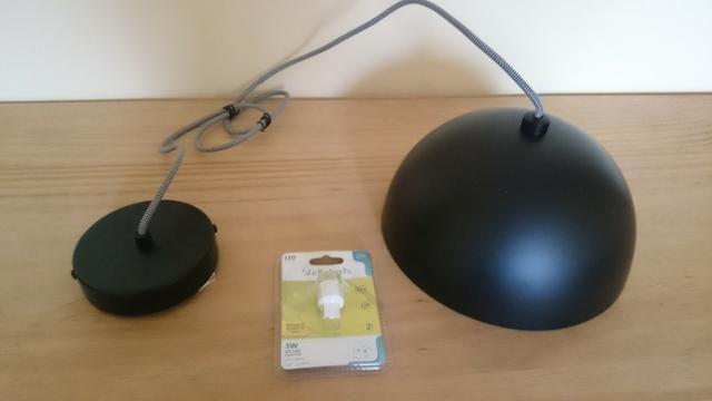 Luminária pendente em aço preto com prata Bella 24cm SE240P + 01 Lâmpada LED E27 - Foto 3