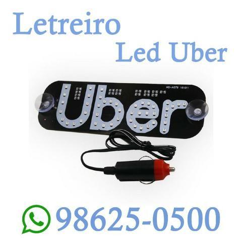 (Entregamos) Letreiro Led Uber Luminoso Decorativo (Loja Física)