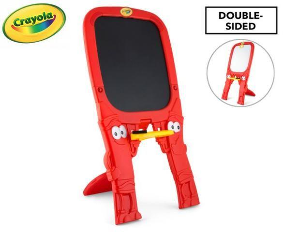 Lousa Infantil Crayola Dupla Face um Lado Giz Outro Caneta - Foto 5