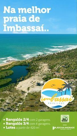 Casas 2 e 3 quartos Praia de Imbassaí pé na areia - Foto 2