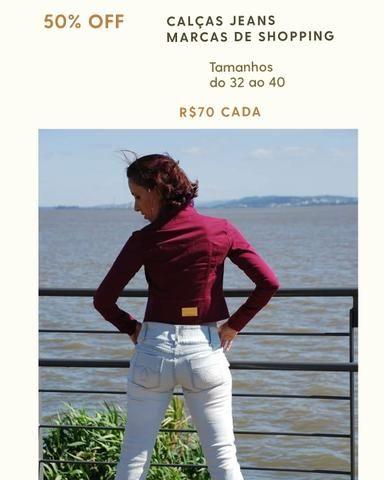 Calças jeans fabricadas pra Purpurina e Duda Dreans