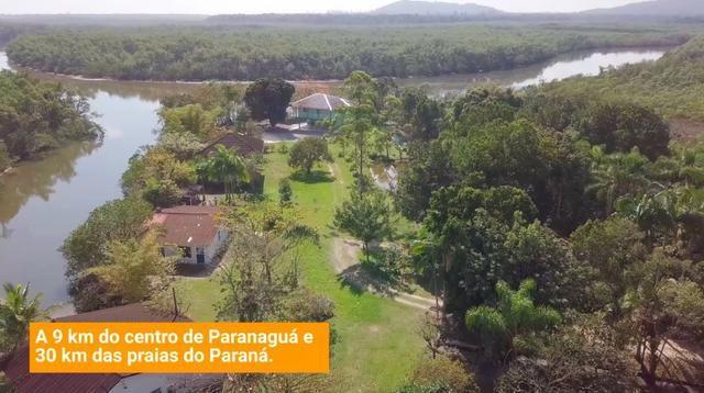 Chácara em Alexandra - Paranaguá na beira de rio com 2 casas + barco e veleiro - Foto 17