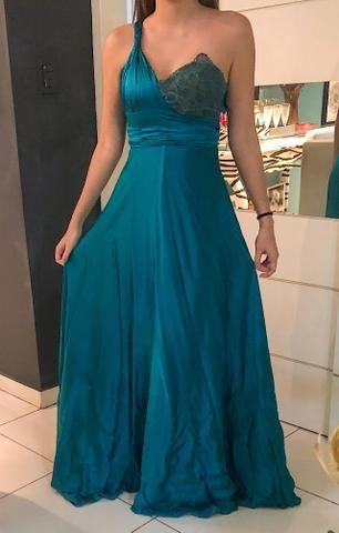 9b8d7e4379 Vestido azul de seda com renascença - Roupas e calçados - Jaraguá ...