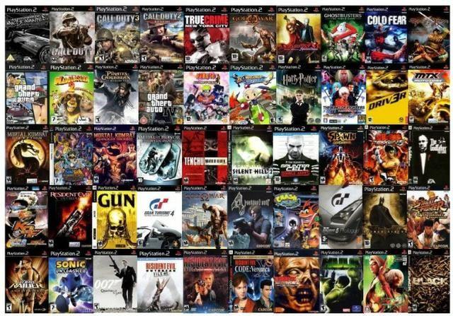 Jogos para Playstation 2 temos uma grande variedade