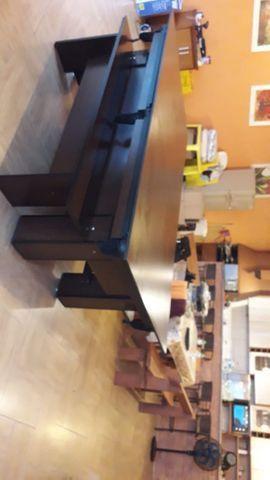 Mesa Charme Carlin Cor Preta Tecido Amarelo Mod. RZRP8935 - Foto 2