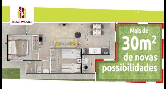 Reserva Sim 2/4 em condomínio no bairro Sim - Foto 2