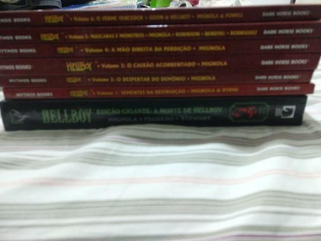 Hellboy edição histórica 1 ao 6 + edição gigante a morte de hellboy