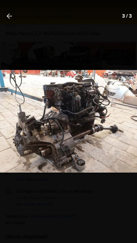 Motor zetec 2.0 16v gasolina - Foto 3