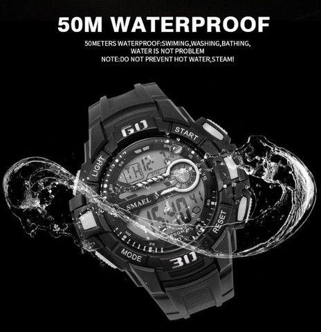 Relógio Masculino Digital Smael 1513 Prova Dágua 50 Metros  - Foto 3