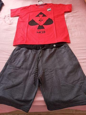 Camisas + bermuda moleton preço baixo  - Foto 6