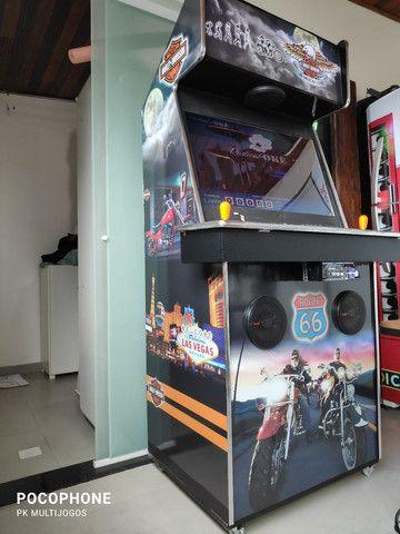 Fliperama 1.100 jogos arcades 32 pol com Karaoke 9.900 musicas - Foto 3