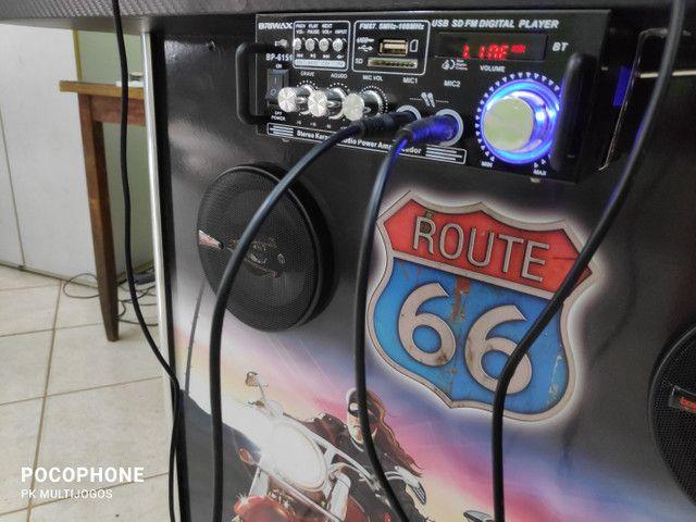 Fliperama 1.100 jogos arcades 32 pol com Karaoke 9.900 musicas - Foto 6