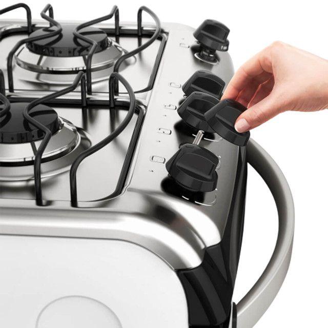 Fogão 4 Bocas Electrolux Branco  Automático com Forno de 70L  - Foto 3