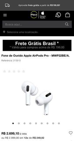 Apple AirPods Pro Fone Sem Fio Bluetooth Original Lacrado - Foto 3
