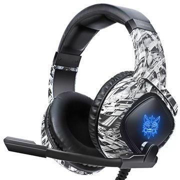 Headset gamer Onikuma k19 - Camuflagem Cinza